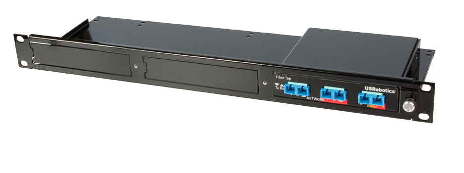 Install up to 3 taps in the optional 1U rackmount chassis