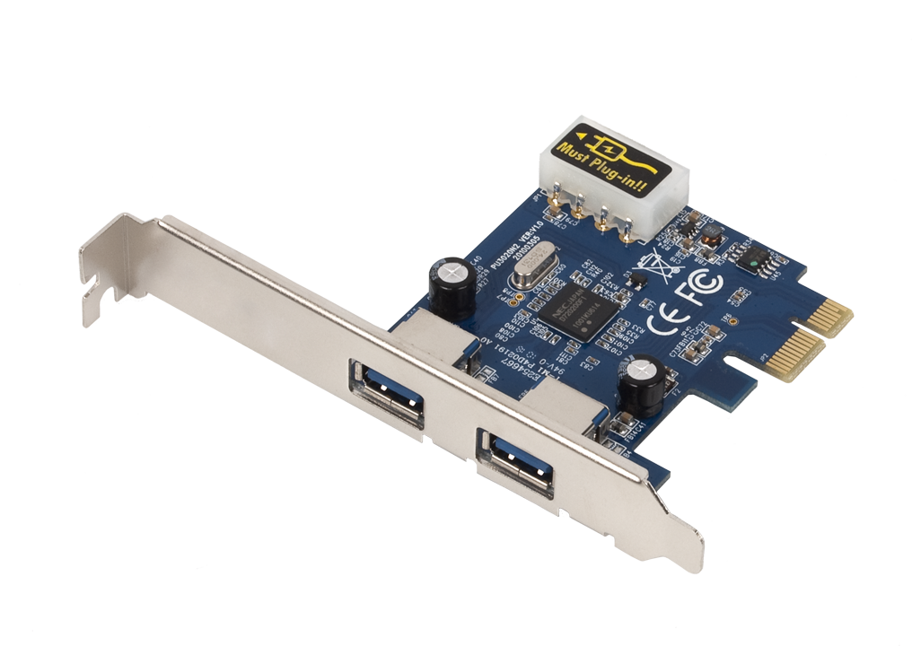 USB 3.0 2 Port PCI Express Card Adapter